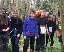 DofE group in forest