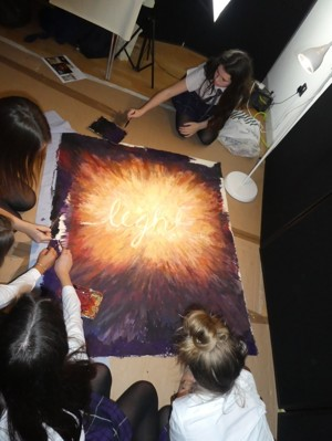 Prayerspace2020 art with students
