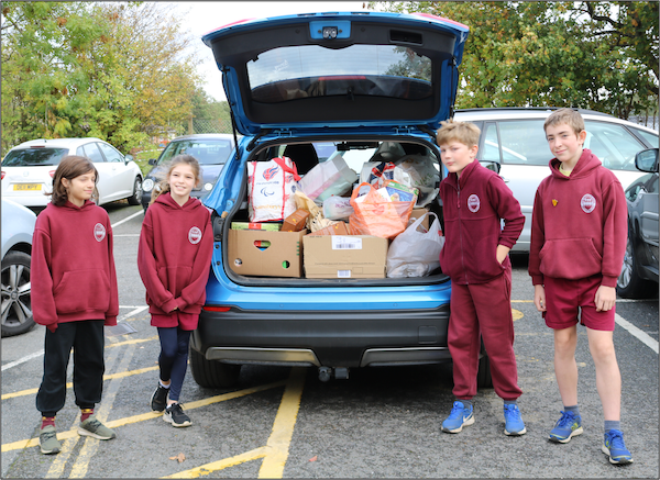Donations for trinity food bank